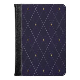 Bright Diamond Navy Argyle Kindle Case