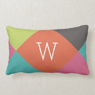 Bright Diamonds Monogram Throw Pillows