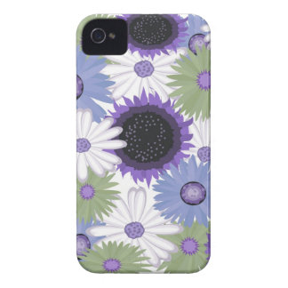 Bright Digital Flowers iPhone 4/4S Case Mate iPhone 4 Covers