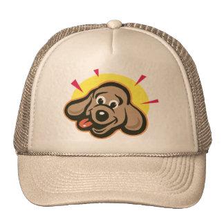 Bright dog face cartoon trucker hat