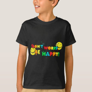 bright don't worry be happy smiley face design T-Shirt