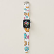 Bright Donut Whimsical Pattern Apple Watch Band