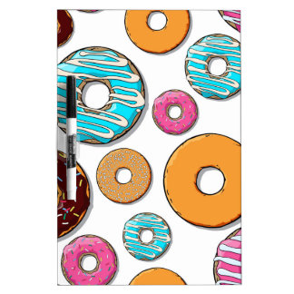 Bright Donut Whimsical Pattern Dry-Erase Board