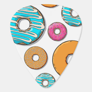Bright Donut Whimsical Pattern Guitar Pick