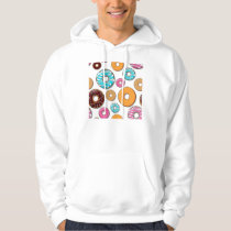 Bright Donut Whimsical Pattern Hoodie