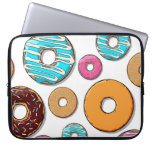 Bright Donut Whimsical Pattern Laptop Sleeve