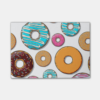 Bright Donut Whimsical Pattern Post-it® Notes