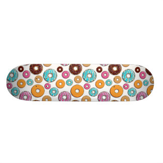 Bright Donut Whimsical Pattern Skateboard Deck