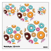 Bright Donut Whimsical Pattern Wall Sticker