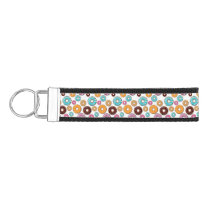 Bright Donut Whimsical Pattern Wrist Keychain