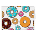 Bright Donuts Whimsical Pattern Greeting Card