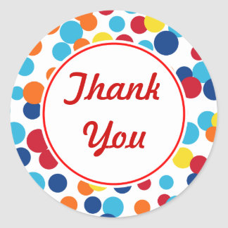 Bright Dot Thank You Stickers