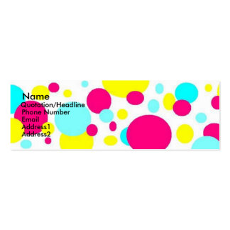 Bright Dots Double-Sided Mini Business Cards (Pack Of 20)