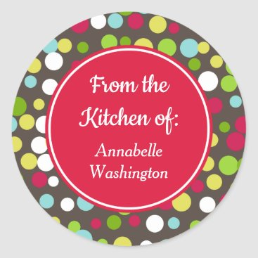 Bright Dots Kitchen Baking Gift Tags Stickers