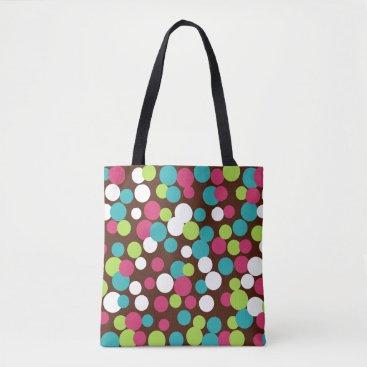 Beach Themed Bright Dots Travel Summer Beach Bag Tote