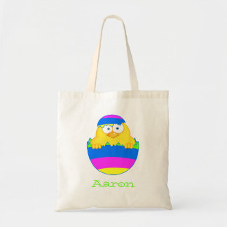 Bright Easter Egg Chick Budget Tote Bag