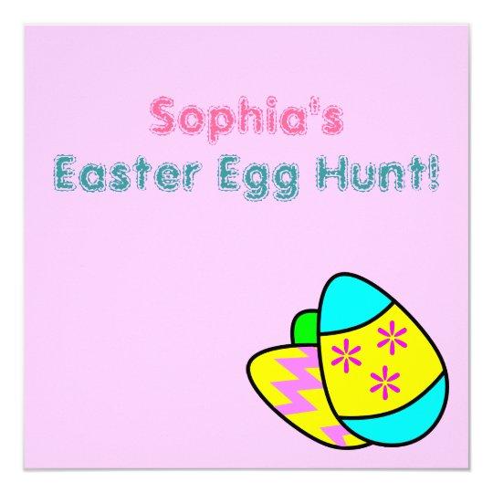 Bright Easter Eggs Easter Egg Hunt Invitation