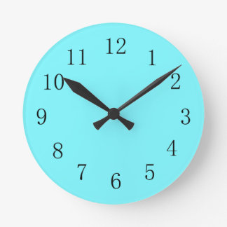 Bright Electric Blue Color Kitchen Wall Clock
