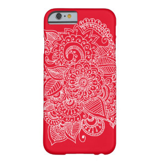 Bright Elegant Beautiful Paisley Doodle Barely There iPhone 6 Case