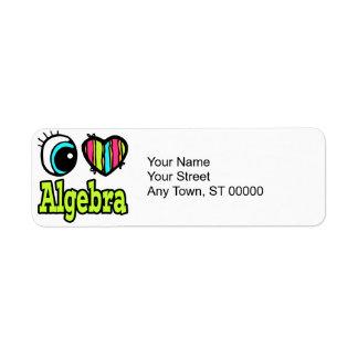 Bright Eye Heart I Love Algebra Label