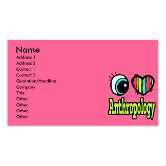 Bright Eye Heart I Love Anthropology Business Card