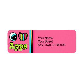 Bright Eye Heart I Love Apps Return Address Labels