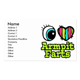 Bright Eye Heart I Love Armpit Farts Double-Sided Standard Business Cards (Pack Of 100)