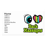 Bright Eye Heart I Love Back Massages Business Card Template