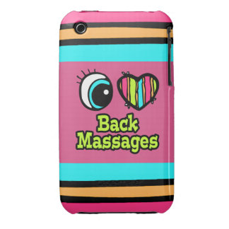 Bright Eye Heart I Love Back Massages iPhone 3 Case-Mate Cases
