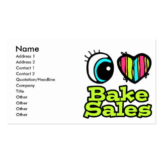 Bright Eye Heart I Love Bake Sales Double-Sided Standard Business Cards (Pack Of 100)