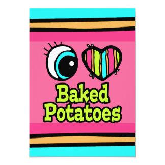 Bright Eye Heart I Love Baked Potatoes Card