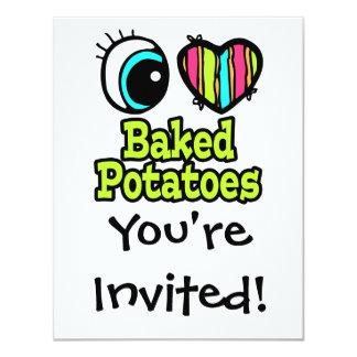 Bright Eye Heart I Love Baked Potatoes Invitation