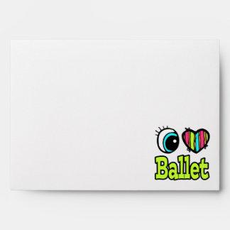 Bright Eye Heart I Love Ballet Envelopes