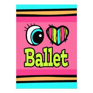 Bright Eye Heart I Love Ballet Personalized Invite