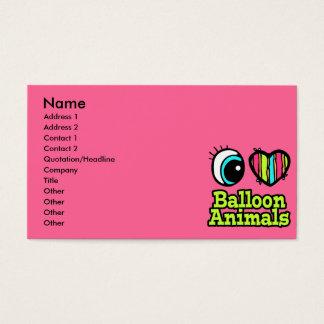Bright Eye Heart I Love Balloon Animals Business Card