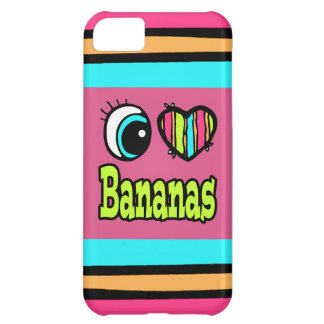 Bright Eye Heart I Love Bananas Cover For iPhone 5C