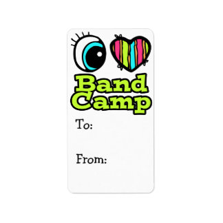 Bright Eye Heart I Love Band Camp Address Label