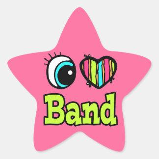 Bright Eye Heart I Love Band Stickers