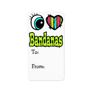 Bright Eye Heart I Love Bandanas Label