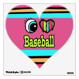 Bright Eye Heart I Love Baseball Room Decals