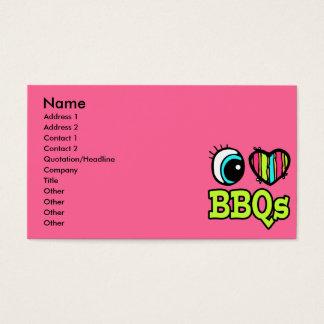 Bright Eye Heart I Love BBQs Business Card
