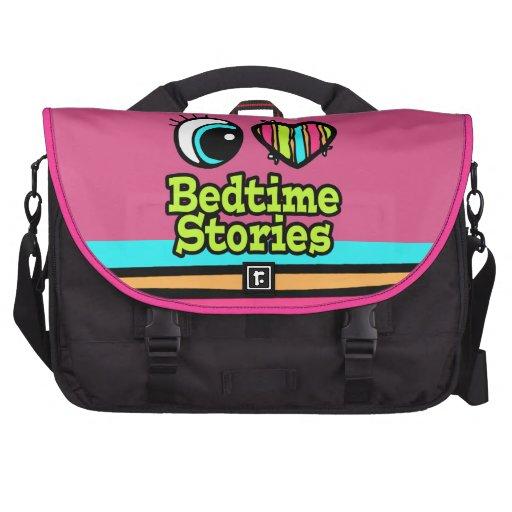Bright Eye Heart I Love Bedtime Stories Laptop Commuter Bag