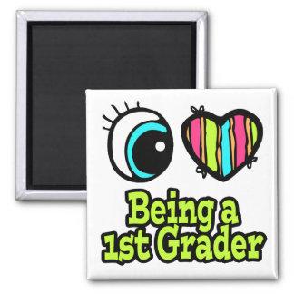 Bright Eye Heart I Love Being a 1st Grader Refrigerator Magnet