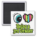 Bright Eye Heart I Love Being a 3rd Grader Fridge Magnet