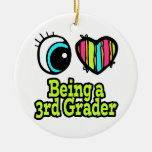 Bright Eye Heart I Love Being a 3rd Grader Christmas Tree Ornament