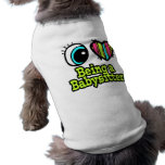 Bright Eye Heart I Love Being a Babysitter Pet Shirt