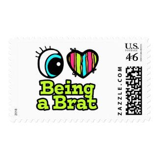 Bright Eye Heart I Love Being a Brat Stamp
