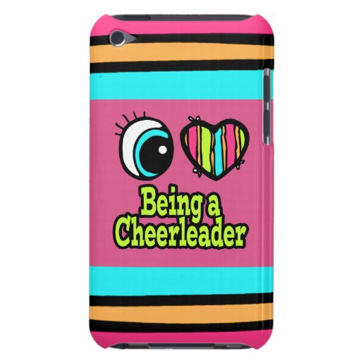 Bright Eye Heart I Love Being a Cheerleader iPod Touch Case