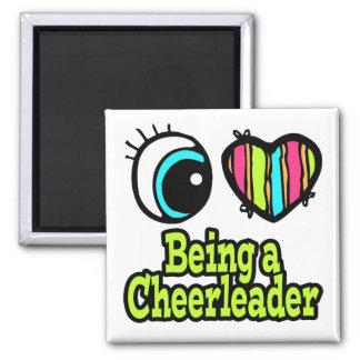 Bright Eye Heart I Love Being a Cheerleader Refrigerator Magnet