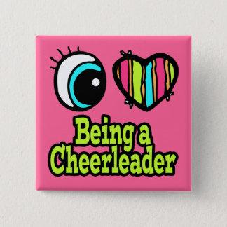 Bright Eye Heart I Love Being a Cheerleader Pinback Button